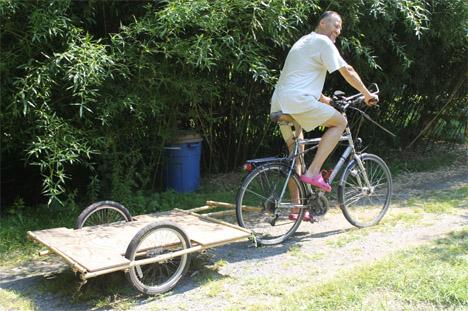 DIY Bamboo Bike Trailer