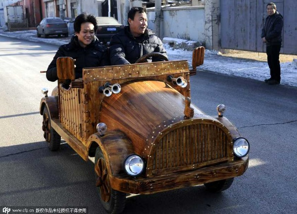 China wooden electric car cd4
