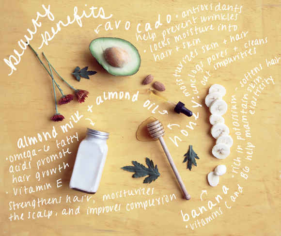 diy beauty recipes avocado almond