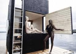Wet Heat: A Floating Wooden Sauna In Seattle