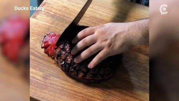 Rare Fare: Smoked Watermelon 'Ham' Is Bloody Good