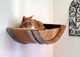 Kit'n Barrel: Recycled Wine Barrel Cat Beds